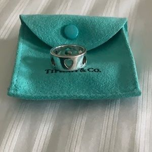 Tiffany's heart ring. Sterling silver